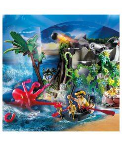 Playmobil julekalender 70322 skattejagt i piratbugten billede