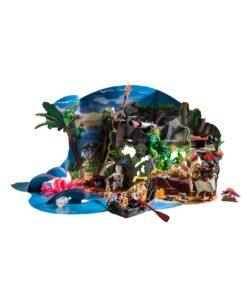 Playmobil julekalender 70322 skattejagt i piratbugten opstilling