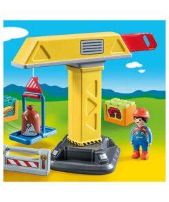 Playmobil kran på byggeplads 70165 billede