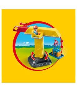 Playmobil kran på byggeplads 70165 drejefunktion