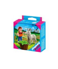 Playmobil pige med æselføl 4740