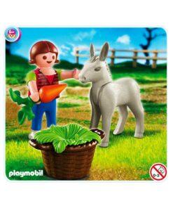 Playmobil pige med æselføl 4740 billede
