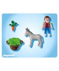 Playmobil pige med æselføl 4740 indhold