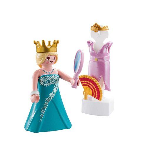 Playmobil prinsesse med mannequin på hvid baggrund