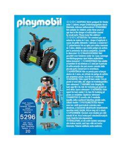 Playmobil Top Agent på Segway 5296 bagside