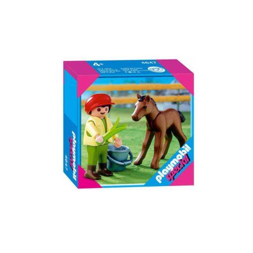 Playmobil dreng med føl 4647