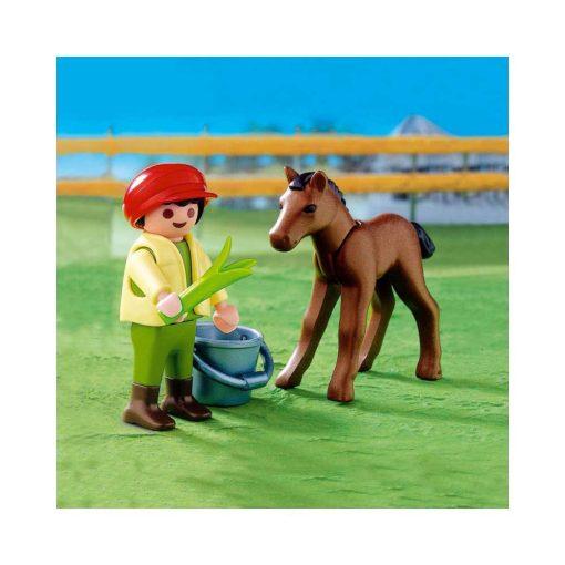 Playmobil dreng med føl 4647 billede