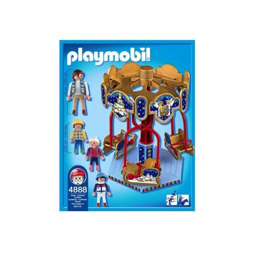 Playmobil julekarussel med slæder 4888 bagside