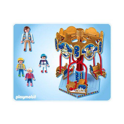 Playmobil julekarussel med slæder 4888 indhold
