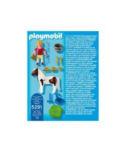 Playmobil pige med pony 5291 bagside