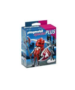 Rød Playmobil ridder med våben 4763 kasse