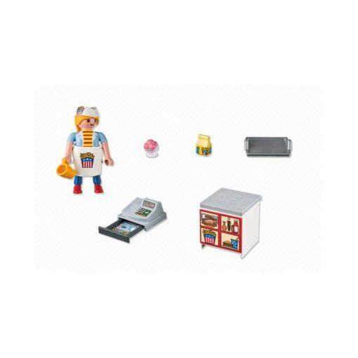 Playmobil tjener med kasseapparat 5292 indhold