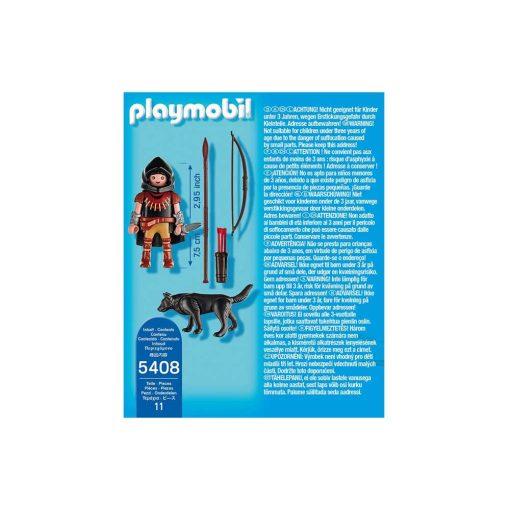 Playmobil bueskytte med ulv 5408 bagside