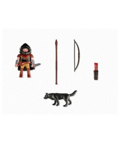 Playmobil bueskytte med ulv 5408 indhold