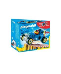 Blå Playmobil stunctcar Racerbil 4181