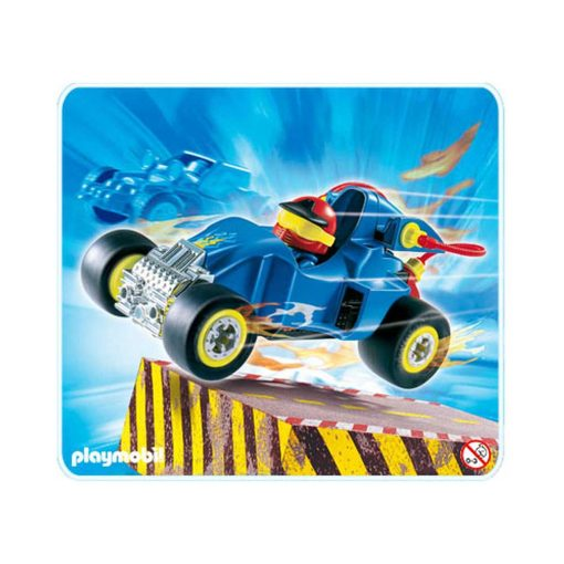 Blå Playmobil stunctcar Racerbil 4181 illustration