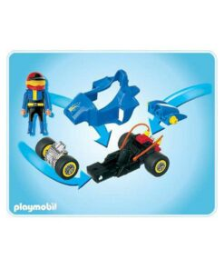 Blå Playmobil stunctcar Racerbil 4181 indhold