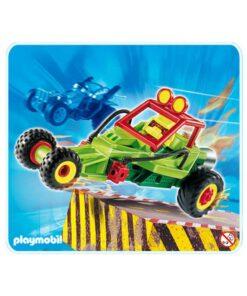 Grøn Playmobil stuntcar racerbil 4183 illustration