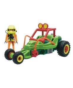 Grøn Playmobil stuntcar racerbil 4183 indhold