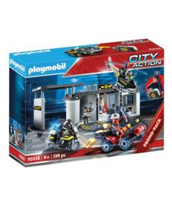 Tag med Playmobil politihovedkvarter 70338 kasse