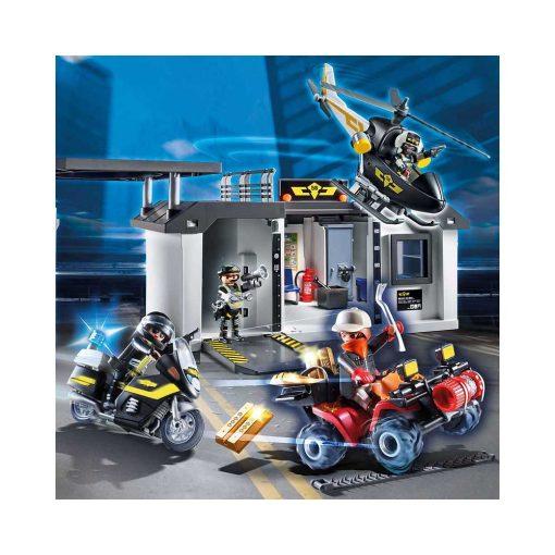 Stor Playmobil tag-med politihovedkvarter billede