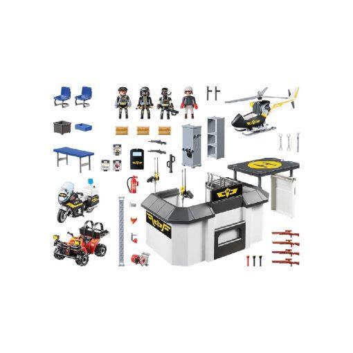 Stor Playmobil tag-med politihovedkvarter 70338 indhold