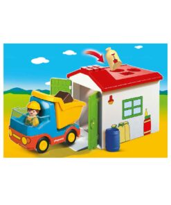 Playmobil 1-2-3 puttekasse garage 70184