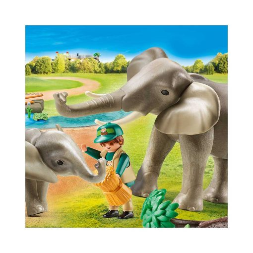 Playmobil elefanter 70324 illustration