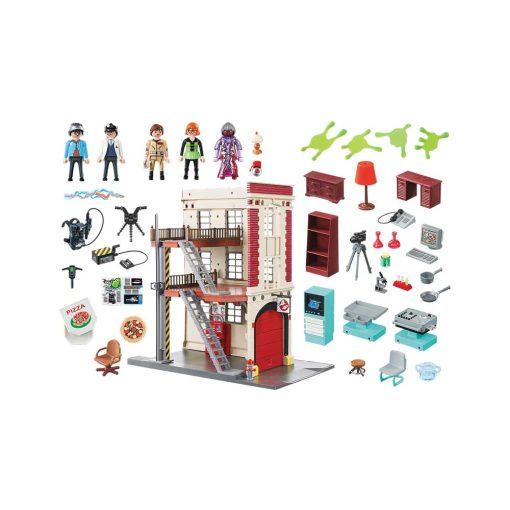 Playmobil ghostbusters brandstation 9219 indhold