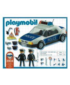 vintage Playmobil politibil 3904 indhold