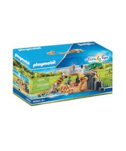 Playmobil løver i indhegning 70343 kasse