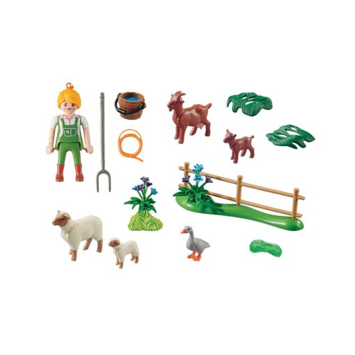 Playmobil bondekone med dyr 70608 indhold