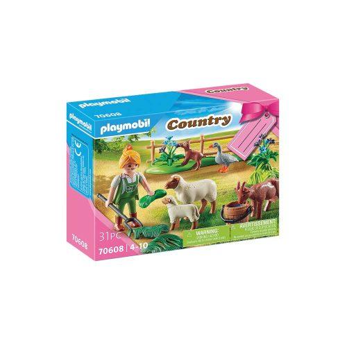 Playmobil bondekone med dyr 70608 kasse