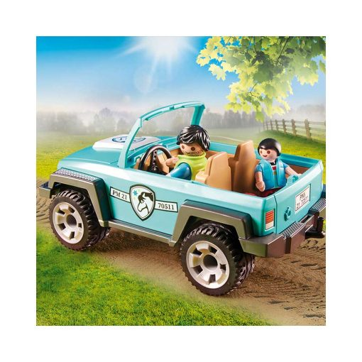 Playmobil jeep og hestetrailer 70511 fed jeep