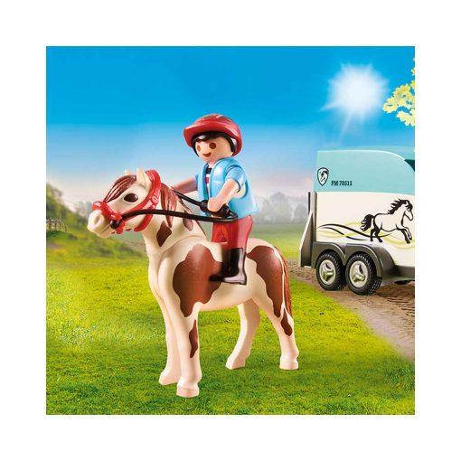 Playmobil jeep og ponytrailer70511 rytter