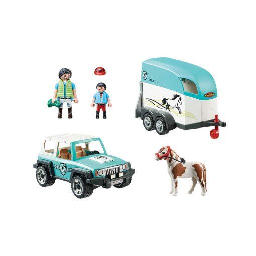 Playmobil jeep og hestetrailer 70511 indhold