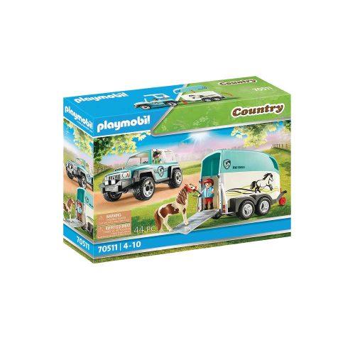 Playmobil jeep og ponytrailer 70511 æske