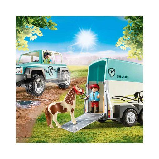 Playmobil jeep og hestetrailer 70511 aflæsning af hest