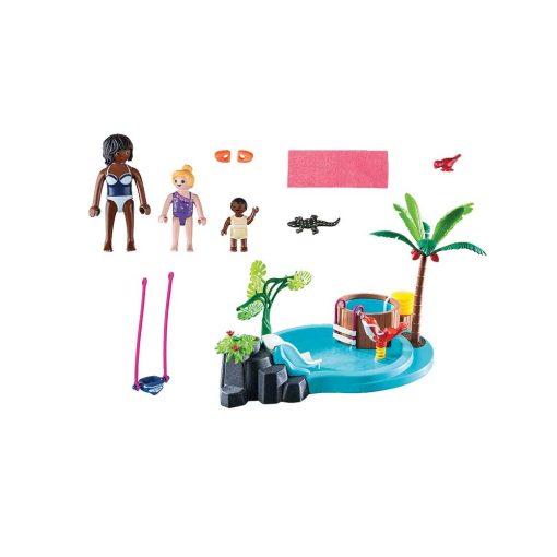 Playmobil børnebassin med boblebad 70611 indhold