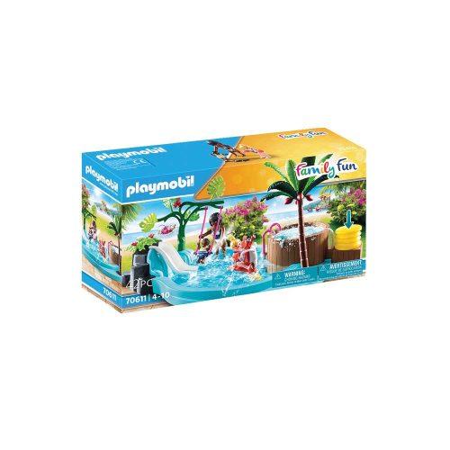 Playmobil børnebassin med boblebad 70611 kasse
