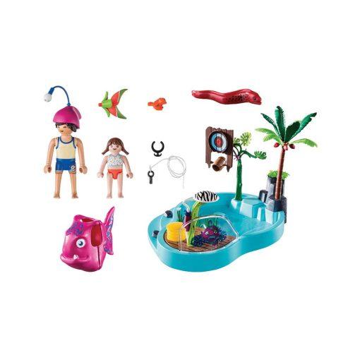 Playmobil pool med vandpistol 70610 indhold