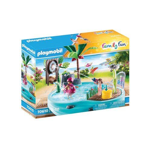 Playmobil pool med vandpistol 70610 æske