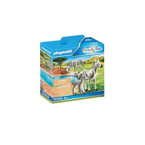 Playmobil zebra med føl 70356 kasse