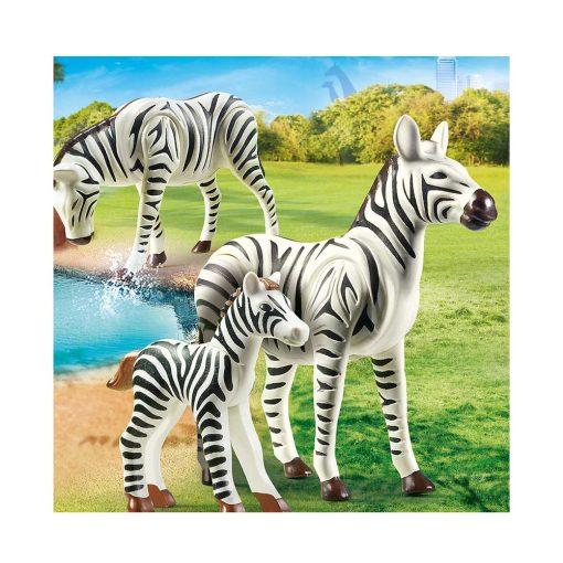 Playmobil zebra med føl 70356 illustration