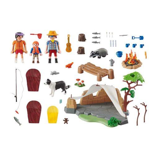 Playmobil familie på campingtur 70743 indhold