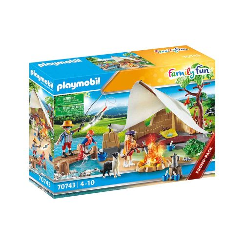 Playmobil familie på campingtur 70743 kasse