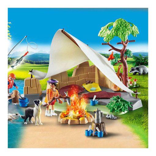 Playmobil familie på campingtur 70743 shelter