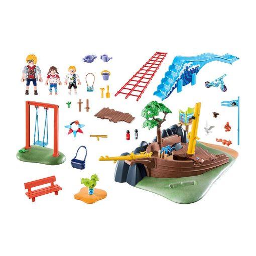 Playmobil legeplads med skibsvrag 70741 indhold