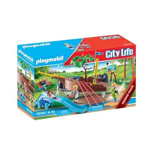 Playmobil legeplads med skibsvrag 70741 kasse